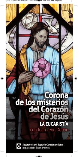 SCJ Corona La Eucaristia:FOLLETO SCJ 11
