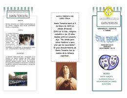 GRANDEZA, CIENCIA Y AMOR Santa Teresita nació el 2 de Enero