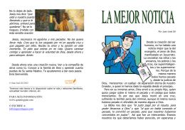 FOLLETO - LA MEJOR NOTICIA