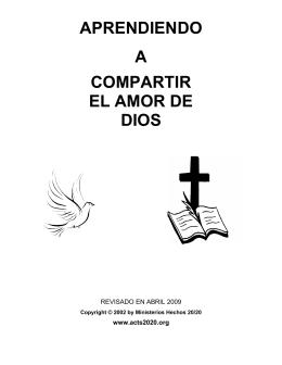 APRENDIENDO A COMPARTIR EL AMOR DE DIOS
