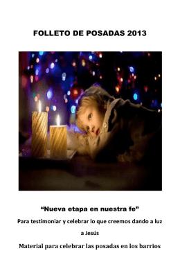 FOLLETO DE POSADAS 2013