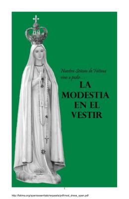 Nuestra Señora de Fátima vino a pedir… la modestia en el vestir