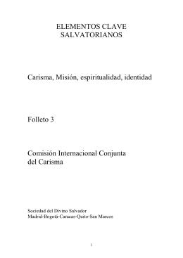 ELEMENTOS CLAVE SALVATORIANOS