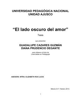 El lado oscuro del amor - Biblioteca Gregorio Torres Quintero