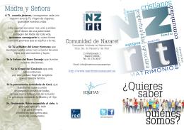 Folleto 1 - Comunidad de Nazaret