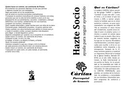 folleto para socios cáritas