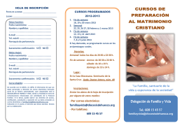 folleto de inscripcion a los cursos
