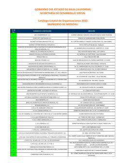 Catálogo de Organismos No Gubernamentales