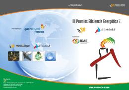 III Folleto premios.cdr - III Premios de Eficiencia Energética A3e El
