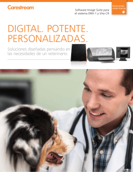 Folleto de las soluciones veterinarias CARESTREAM