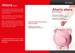 FOLLETO AHORRO - Instituto del Ahorro