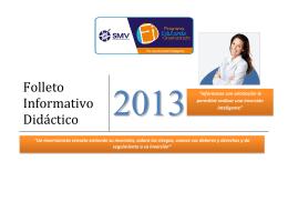 Folleto Informativo Didáctico - Superintendencia del Mercado de