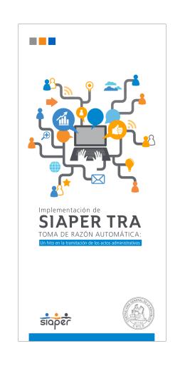 Ver folleto SIAPER TRA - Contraloría General de la República