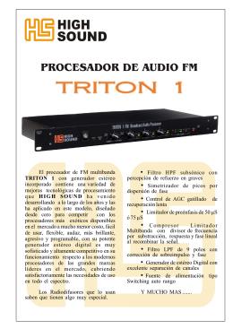Folleto Procesador FM TRITON 1