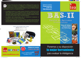 Folleto BAS-II - TEA Ediciones