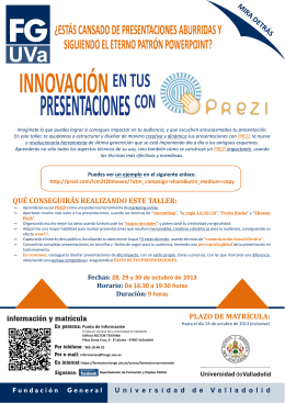 Folleto PREZI.cdr - Universidad de Valladolid