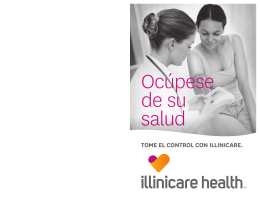 Folleto Ocúpese de su salud – Illinois