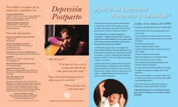 Depresión Postparto - American Psychological Association
