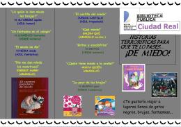 Folleto Expo Noviembre - Red de Bibliotecas de Castilla