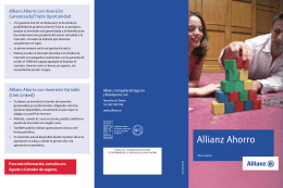 FOLLETO ALLIANZ AHORRO