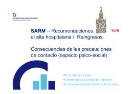 SARM – Recomendaciones al alta hospitalaria / Reingresos