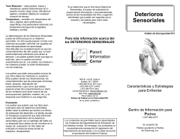 Deterioros Sensoriales - Parent Information Center