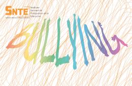 Folleto Bullying - Comité Nacional de Vinculación Social del SNTE