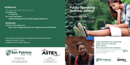 Descargar folleto - PUBLIC SPEAKING Summer School