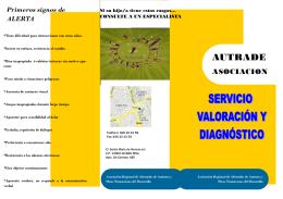 folleto valoración y diagnóstico