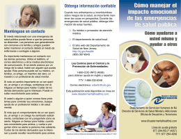 Coping with Public Health Emergencies (Spanish)