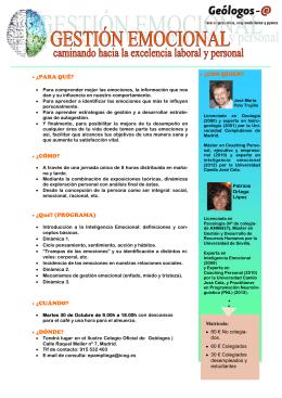jornada - Ilustre Colegio Oficial de GEOLOGOS