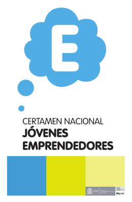 Folleto Certamen Nacional Jóvenes Emprendedores