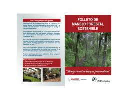 Folleto de Manejo Forestal Sostenible