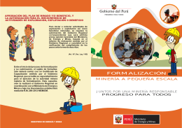 FOLLETO PARA FORMALIZAR 2.cdr - Ministerio de Energía y Minas