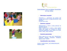 Actividades que se deben fomentar en los niños