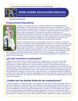 Evaluaciones Educativas