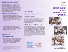 folleto del curso - Campus Virtual de Salud Pública