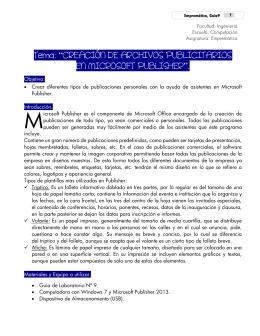 """Tema: """"CREACIÓN DE ARCHIVOS PUBLICITARIOS EN"""