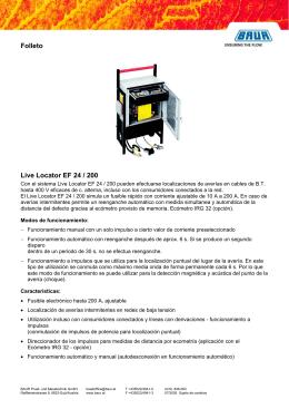 Folleto Live Locator EF 24 / 200