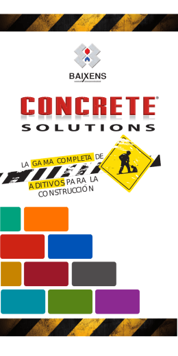 FOLLETO CONCRETE SOLUTIONS