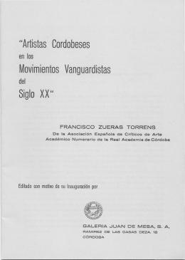 """""""Artistas Cordobeses Movimientos Vanguardistas Siglo XX"""""""