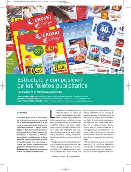 Estructura y composición de los folletos publicitarios