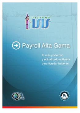 Folleto resumen características Payroll