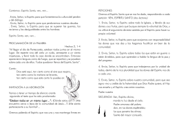 Cantamos: Espíritu Santo, ven, ven... . Envía, Señor, tu Espíritu para