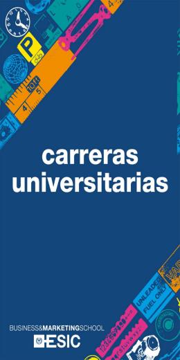 ESIC Folleto CarrerasUniversitarias VALENCIA