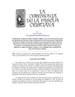 Acerca de este Folleto - Iglesia de Dios Cristiana y Bíblica