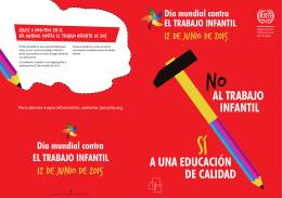 AL TRABAJO A UNA EDUCACIÓN INFANTIL DE CALIDAD