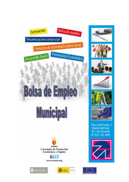 Folleto: Bolsa de Empleo Municipal [pdf 577.0 KB]