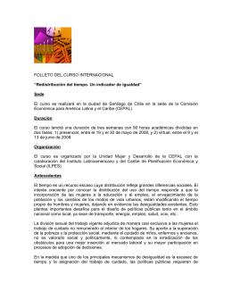 """FOLLETO DEL CURSO INTERNACIONAL """"Redistribución"""