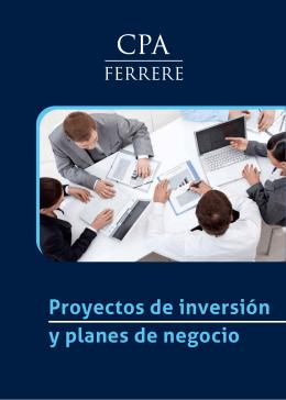 Folleto Proyectos de inversion y planes de negocio Baja
